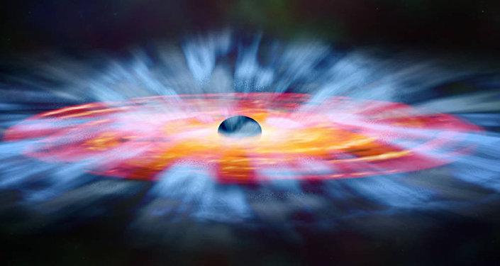 Vento di gas attorno a un buco nero