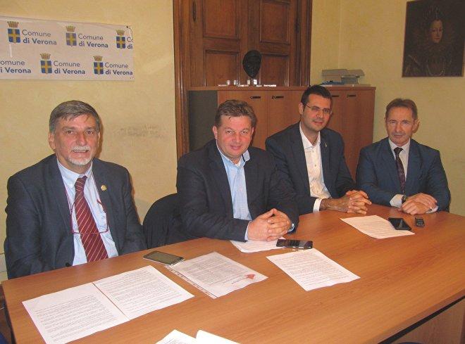 Palmarino Zoccatelli, Stefano Valdegamberi, Vito Comencini, Eliseo Bertolasi