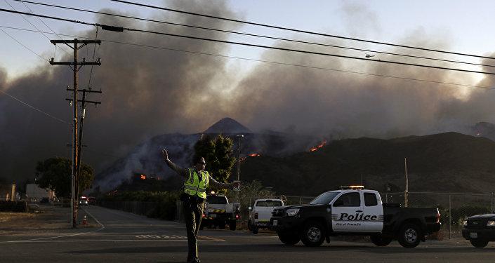 Incendi in California