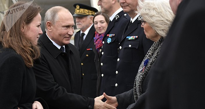 Putin arriva a Parigi per celebrare 100° anniversario armistizio 1° Guerra Mondiale