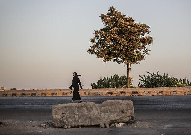 Una donna siriana