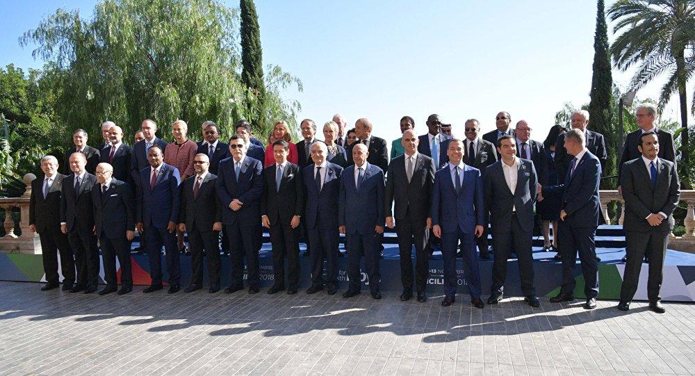 I partecipanti alla conferenza di Palermo per la Libia