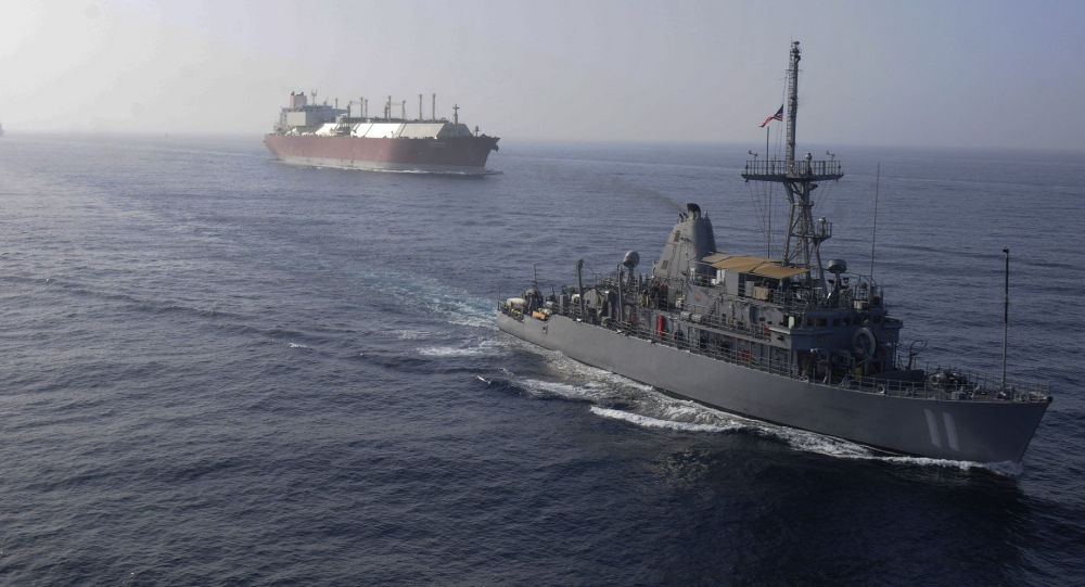 La flotta USA  accompagna la petroliera GNL