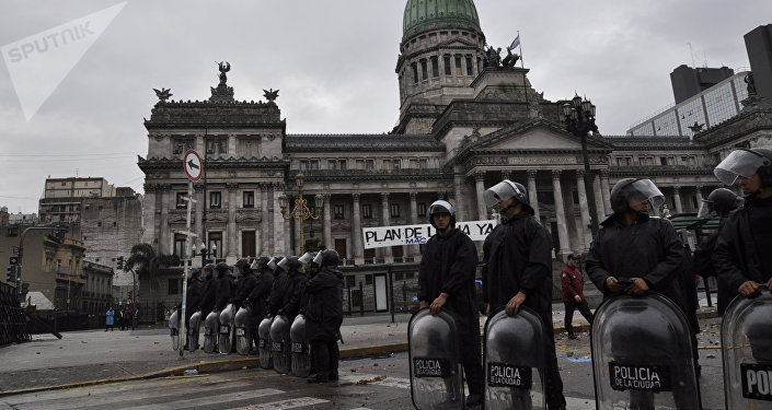 Polizia a Buenos Aires