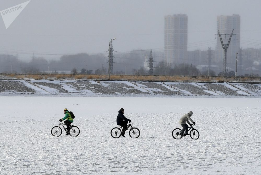 L'inverno è già arrivato a Novosibirsk