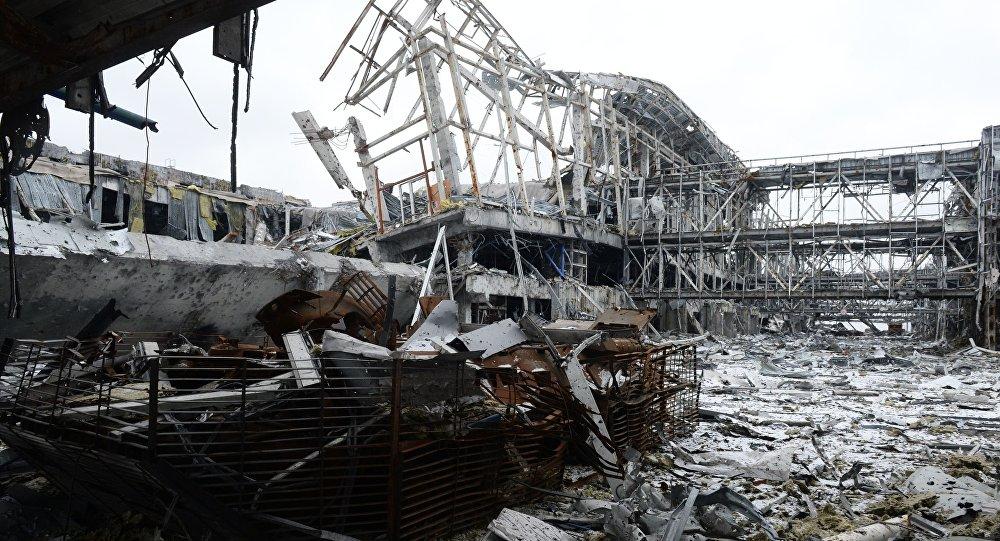 Aeroporto distrutto Donetsk