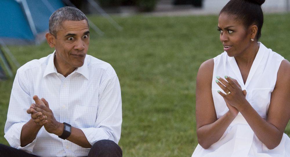 Barack e Michelle Obama alla Casa Bianca a Washington