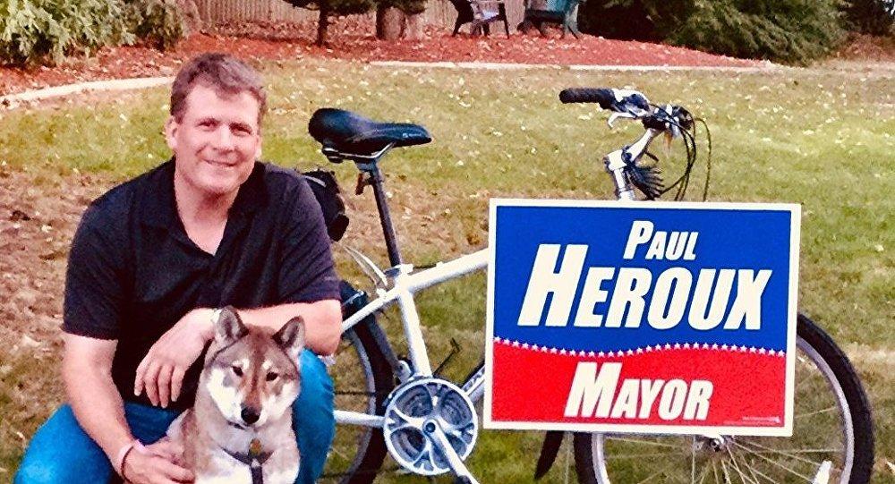 Paul Heroux con il suo cane