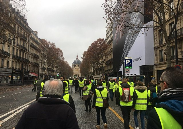 I manifestanti si oppongono all'aumento dei prezzi del carburante, Parigi