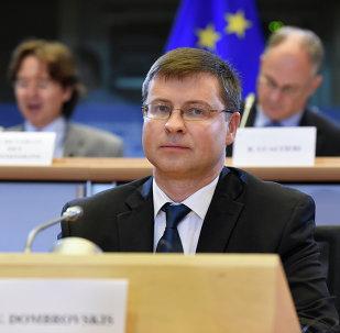 Vice presidente della Commissione Ue Valdis Dombrovskis