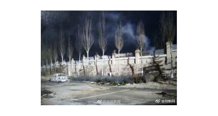 Le conseguenze dell'esplosione in un impianto chimico nel distretto di Qiaodong, a Zhangjiakou, Cina