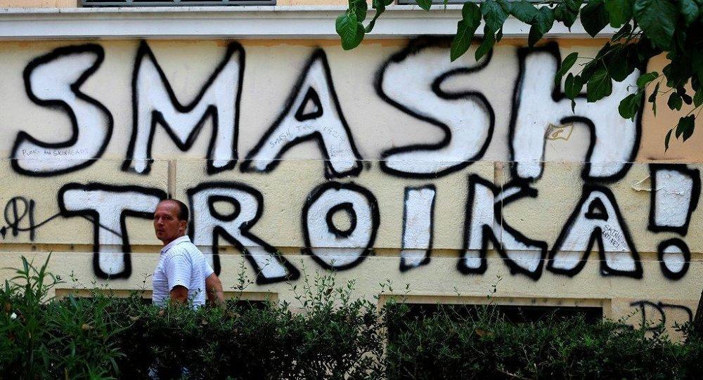 Graffiti della Troika ad Atene