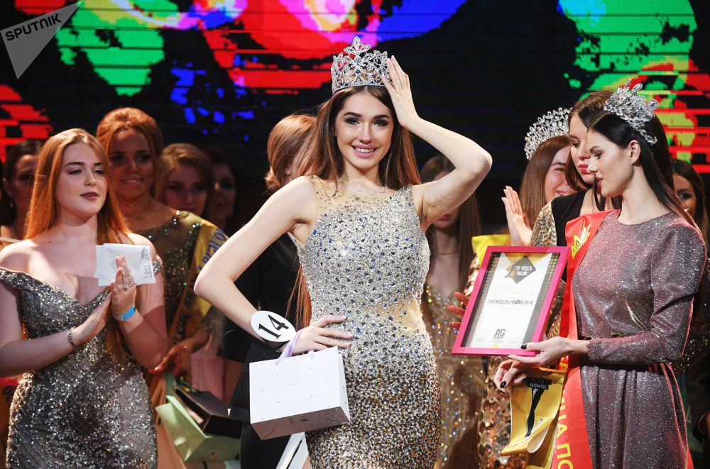 Alina Rudakova, la vincitrice del concorso La Top Model della Russia 2018, Mosca.