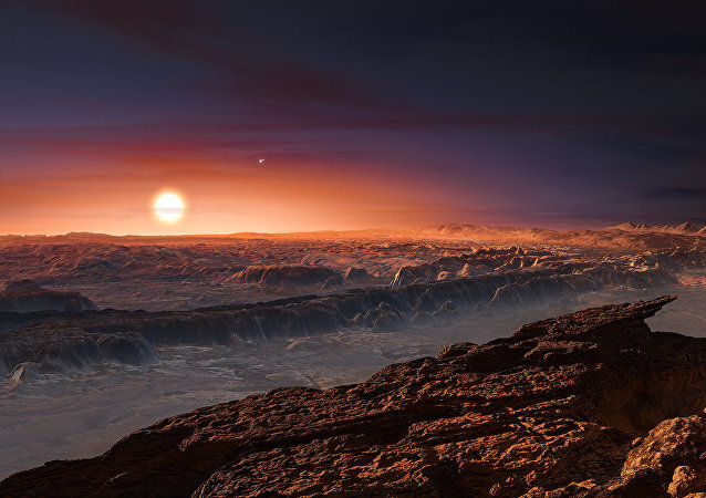 An artist's impression of the view from Proxima Centarui b, a newly discovered Earth-sized planet just four light-years away. It is unclear if there is intelligent life in the universe, but searches continue to find Earth-sized planets in the habitable zones of their respective stars