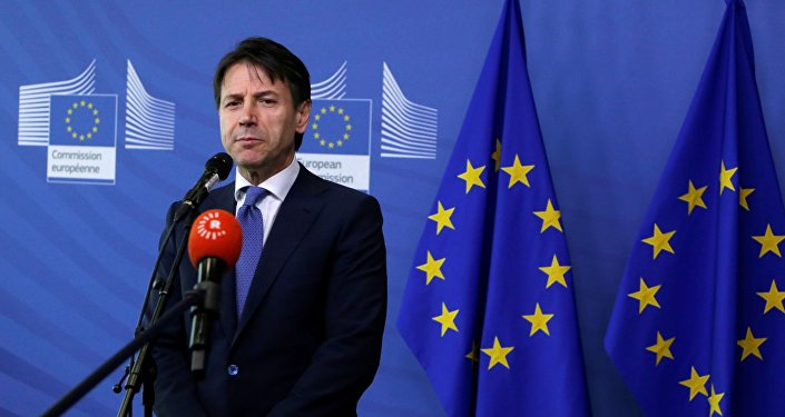Il primo ministro italiano Giuseppe Conte a Bruxelles