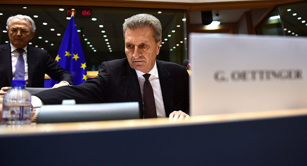 Il commissario europeo al Bilancio, Guenther Oettinger