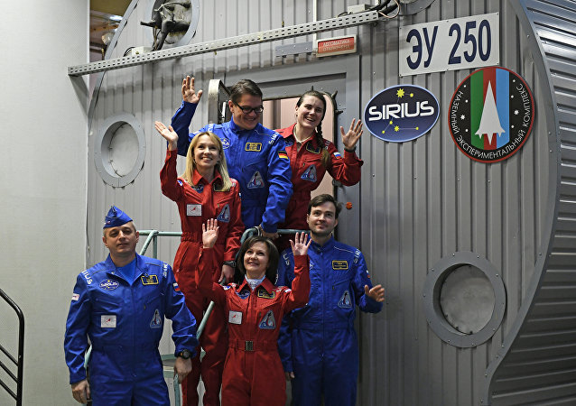 Membri della simulazione SIRIUS-17 a Mosca