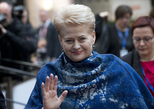 Presidente della Lituania Dalia Grybauskaite