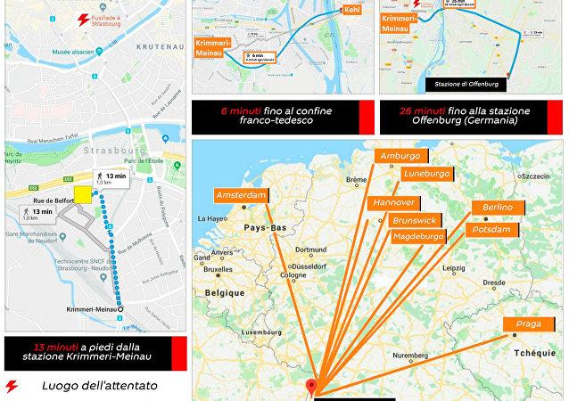 Dove può essere fuggito l'attentatore di Strasburgo?