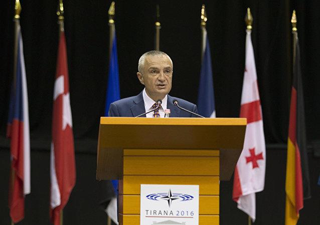 Il presidente dell'Albania Ilir Meta