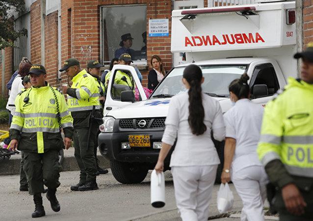 La polizia e il pronto soccorso in Colombia (foto d'archivio)