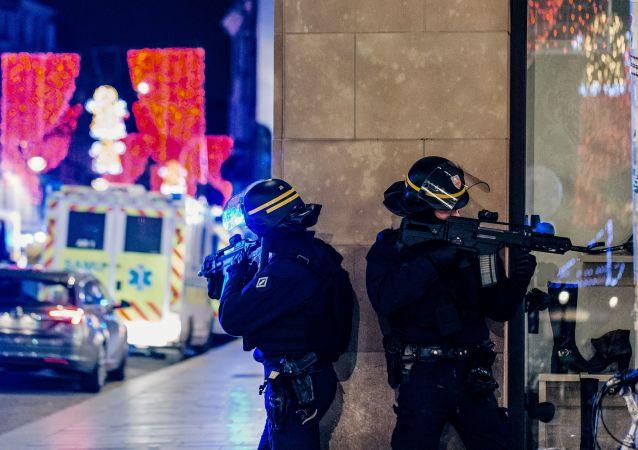 Polizia a Strasburgo