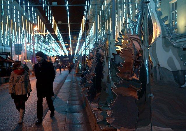 Le installazioni di Capodanno a Mosca