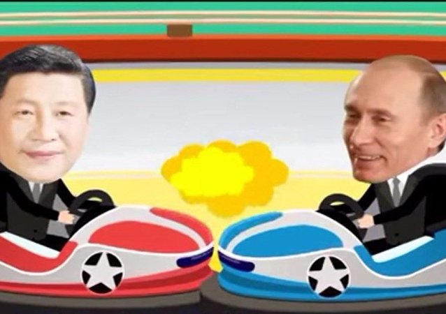 Cartone animato cinese sui summit BRICS e SCO