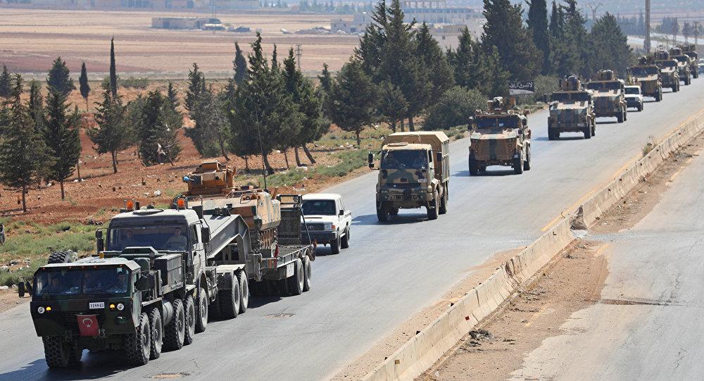 Convoglio delle forze armate turche