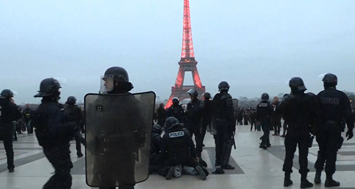 (VIDEO) Francia. Gilet gialli, manifestante-pugile costringe i poliziotti in ritirata