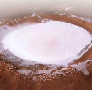 """Marte, la foto di un """"lago innevato"""""""