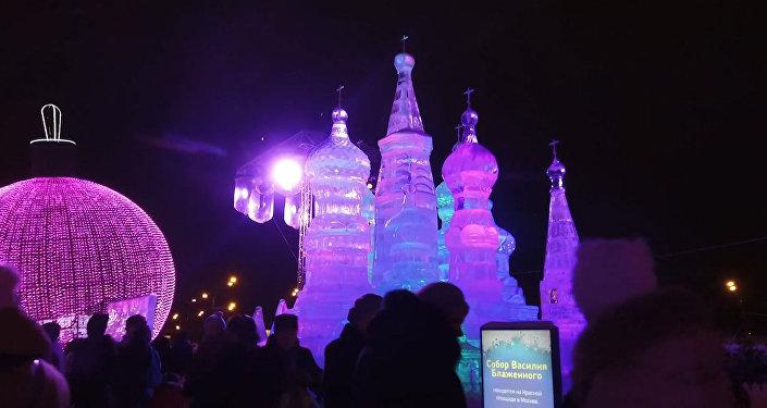Mosca: il festival di ghiaccio