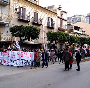 Manifestazione a Licata