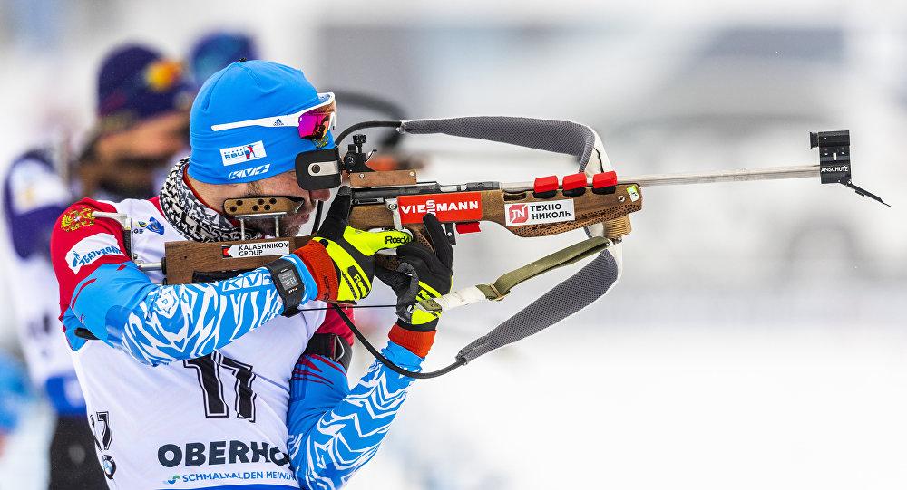 Alexander Loginov concorre per la Russia ai Mondiali di Biathlon 2019