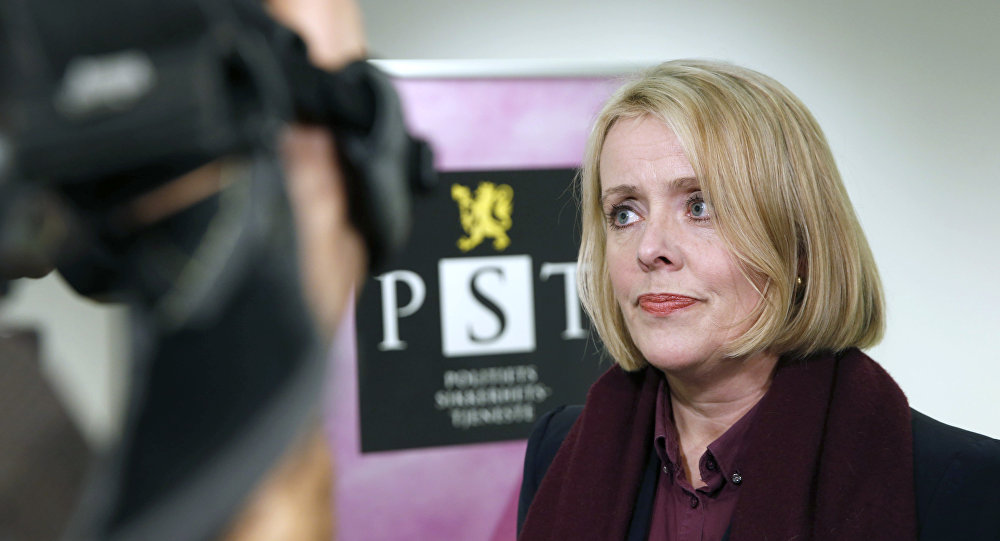 Head of the Norwegian domestic intelligence service PST, Marie Benedicte Bjornland, addresses the media in Oslo, on December 13, 2014