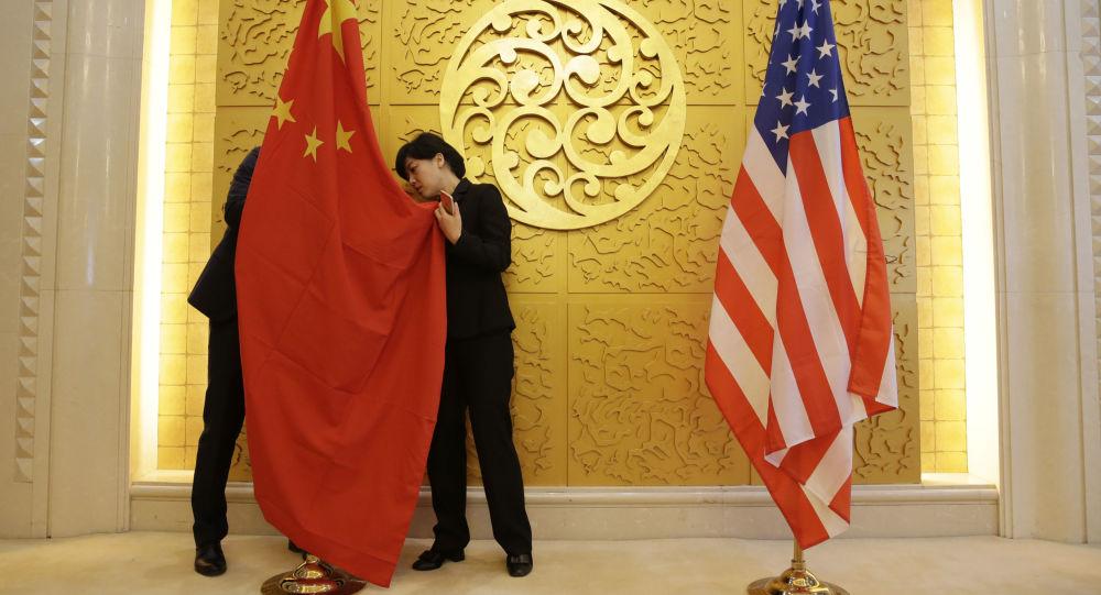 Bandiere Cina USA