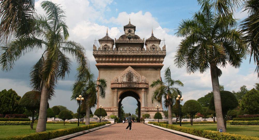 Arco di trionfo in Laos