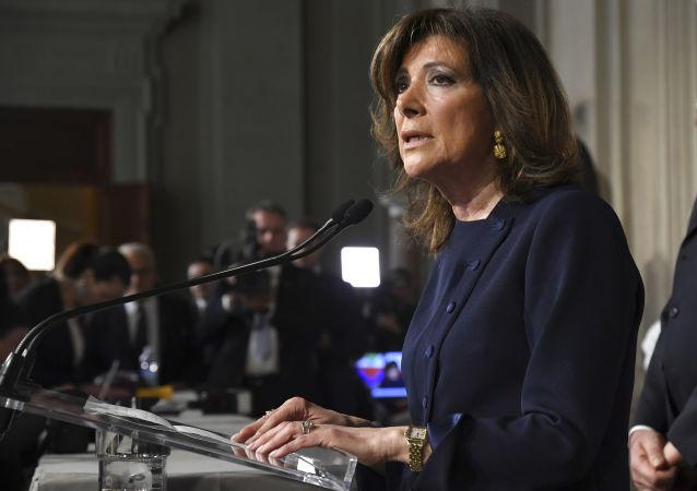 Presidente del Senato italiano Maria Elisabetta Alberti Casellati