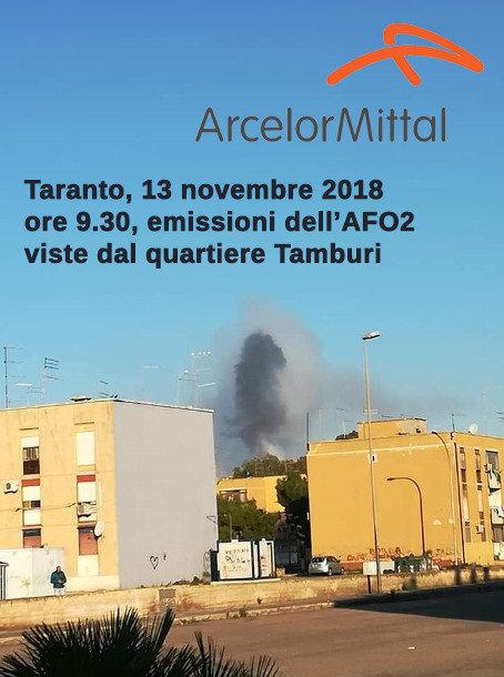 Lo stabilimento siderurgico a Taranto