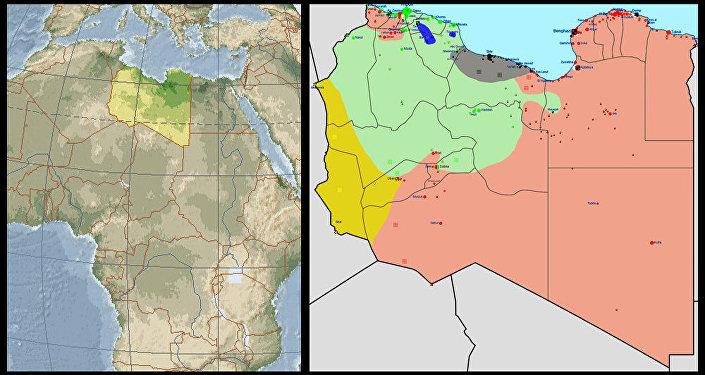 Situazione in Libia nel 2015 (schematizzata)