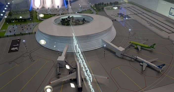 Il plastico del nuovo aeroporto di Petropavlovsk Khamchatskiy, che sarà completato entro il 2019