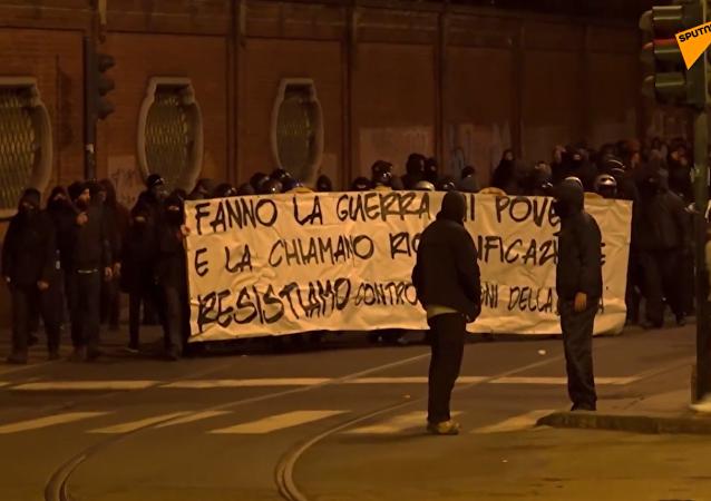 Scontri a Torino