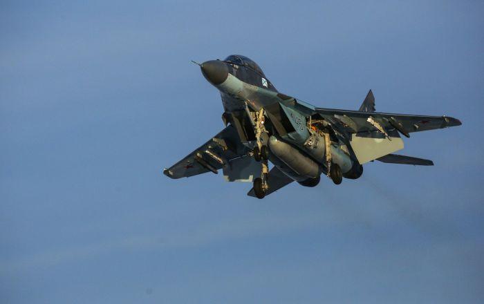Caccia multiuso MiG-29K durante volo di addestramento