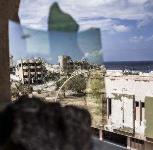 Le rovine della città libica Sirte