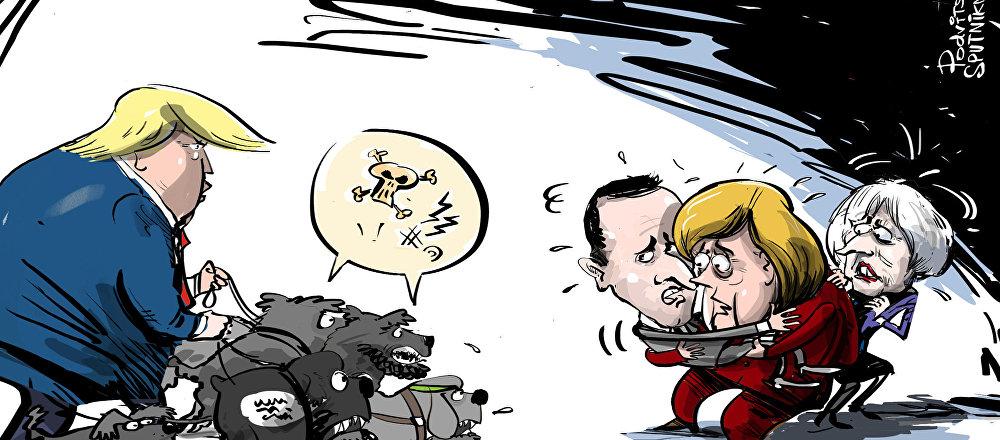 Trump ha detto che i paesi dell'UE devono prendere oltre 800 miliziani dello Stato Islamico e portarli in tribunale.