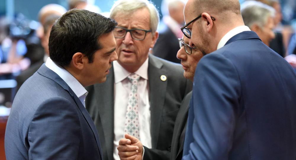 Alexis Tsipras alla riunione Eurorguppo