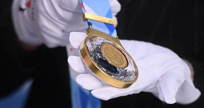 Le medaglia d'oro dell' Universiade Invernale di Krasnoyarsk