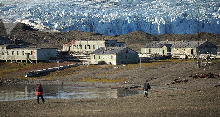 Stazione meteo abbandonata nel parco 'Russkaya Arktika'