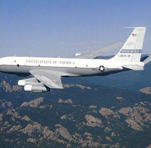 """Aereo di ricognizione USA """"OC-135B"""" (foto d'archivio)"""