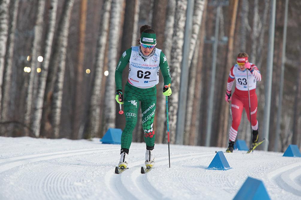 La sciatrice italiana Francesca Franchi durante la 5km a tecnica classica femminile